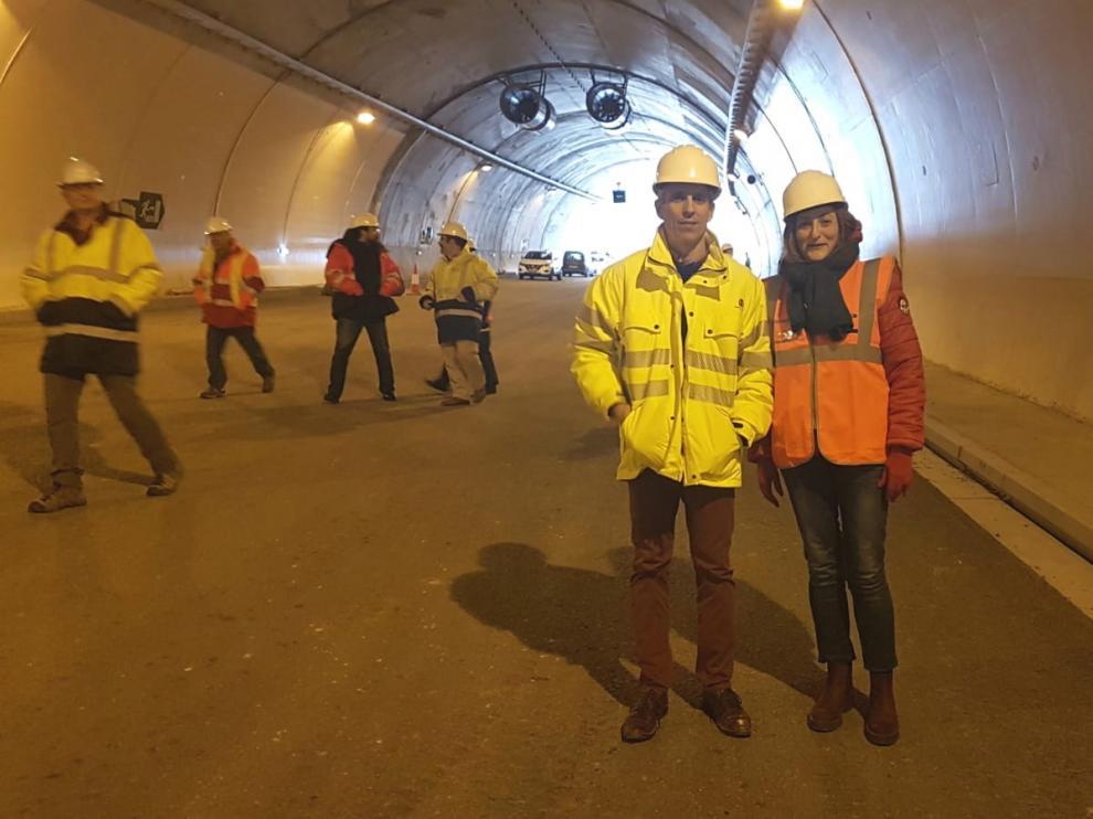 Las obras del túnel de Arguis en la autovía A-23 se encuentran muy avanzadas