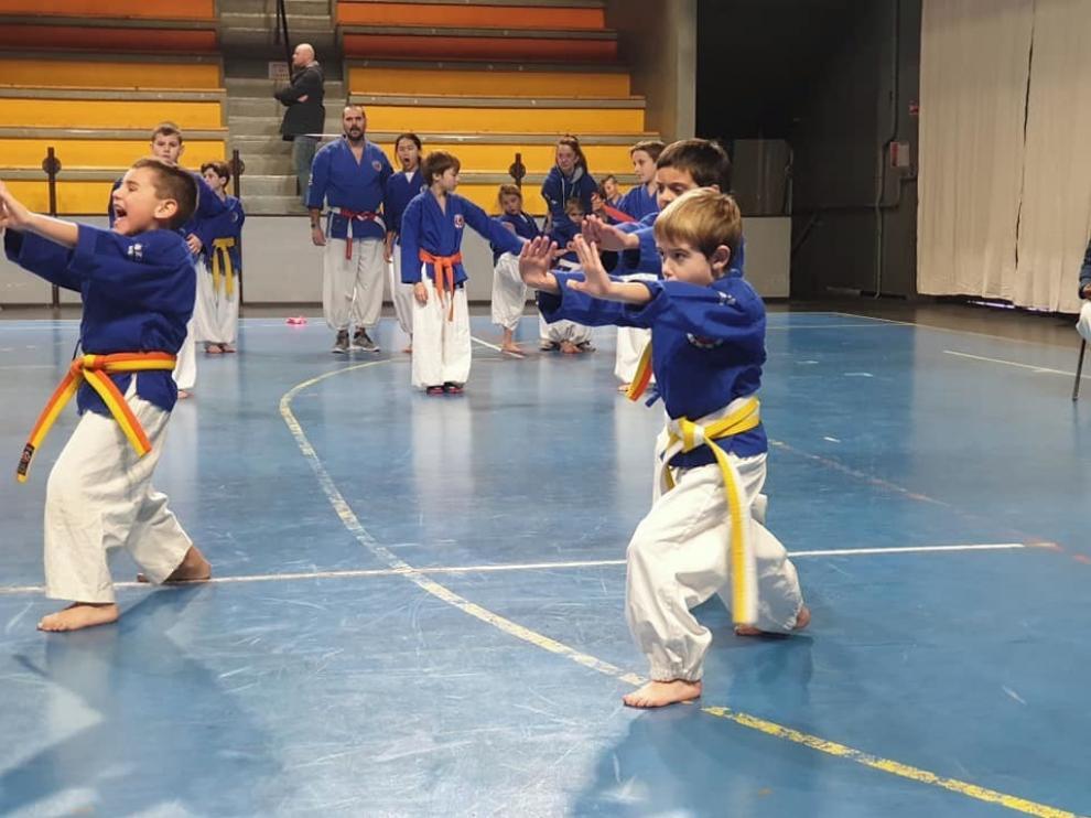Los jóvenes nanbudokas de Sabiñánigo, Huesca, Jaca y Ontiñena sumaron en total 18 medallas de oro en Francia