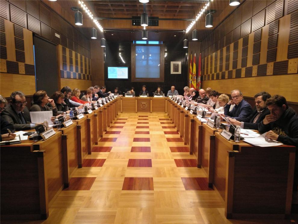 El pleno de Huesca pide a la DGA que cree un centro de interpretación arqueológica en el Círculo Católico
