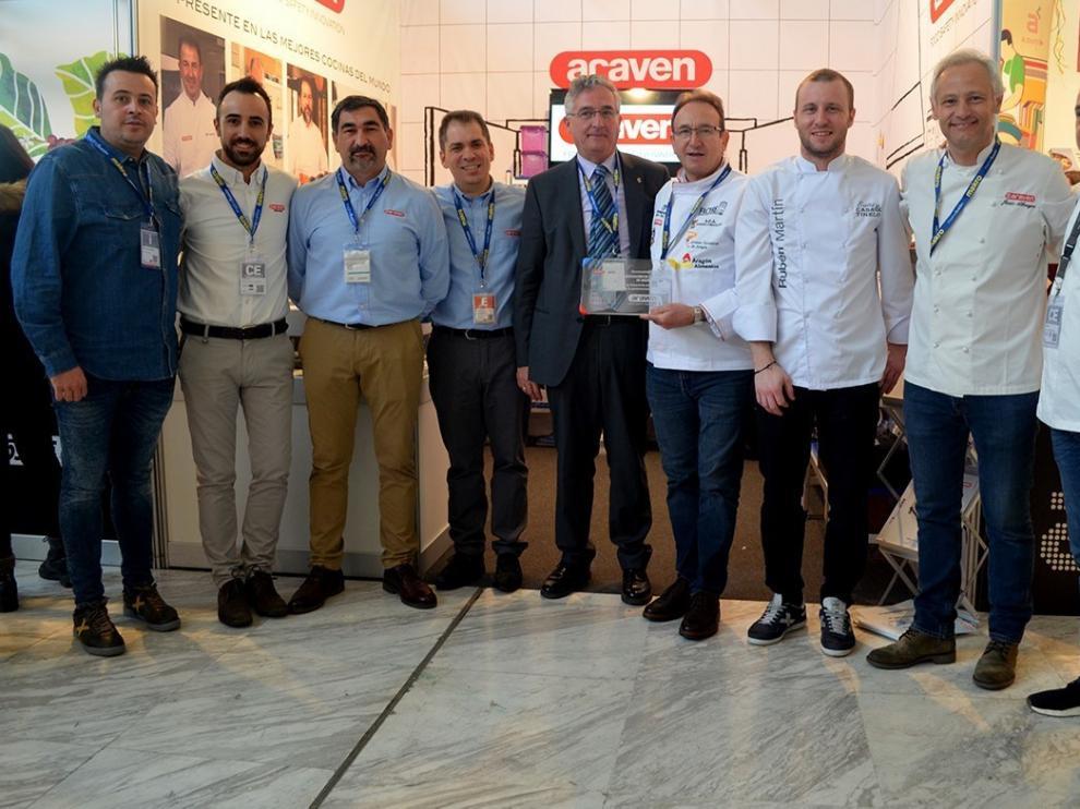 Araven reconoce a la Asociación de Cocineros de Aragón en Madrid Fusión