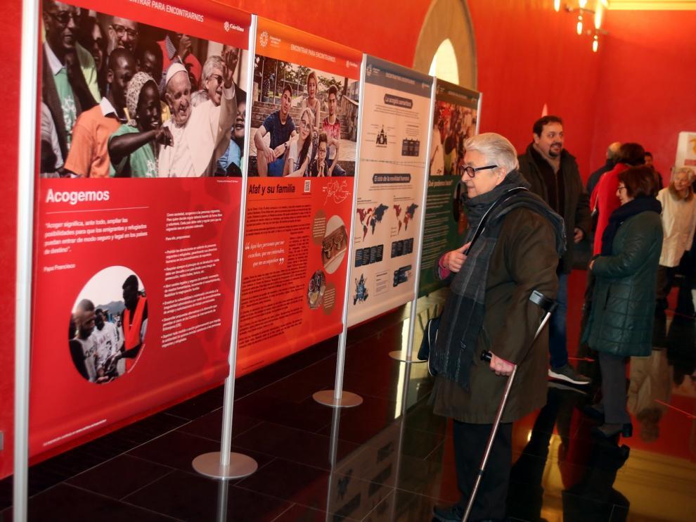 Cáritas expone en Huesca la realidad de la migración forzada