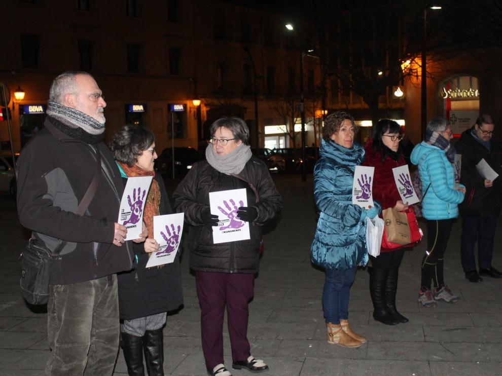 Monzón celebra su quinta concentración en un mes contra la violencia machista