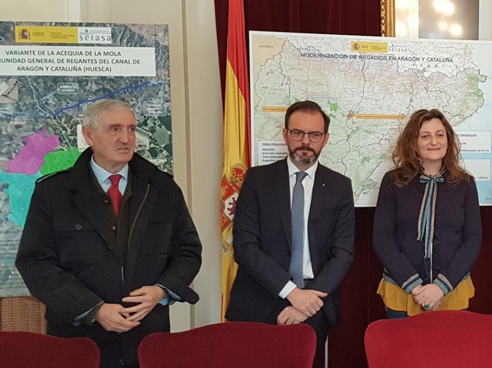 El Gobierno invierte 7.700.000 euros en dos obras de modernización del regadío en la provincia de Huesca