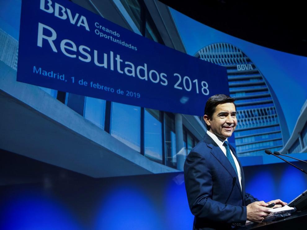 El BBVA gana 5.324 millones en 2018, un 51 % más, pese a Turquía y Argentina