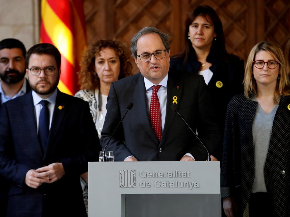 Quim Torra pide a la comunidad internacional que respalde a Cataluña