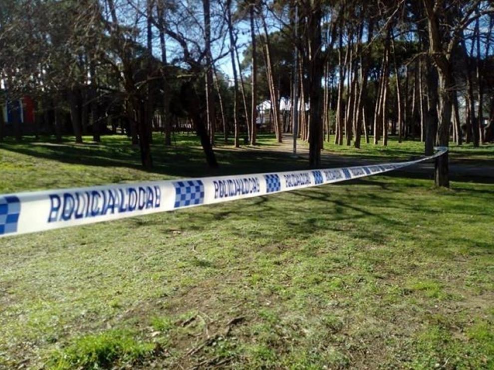 Cerrado el parque de la Pinada de Fraga como precaución por el viento
