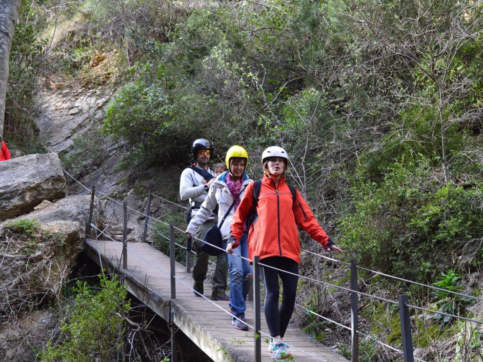 La ruta de las Pasarelas de Alquézar, un atractivo natural cada vez más internacional