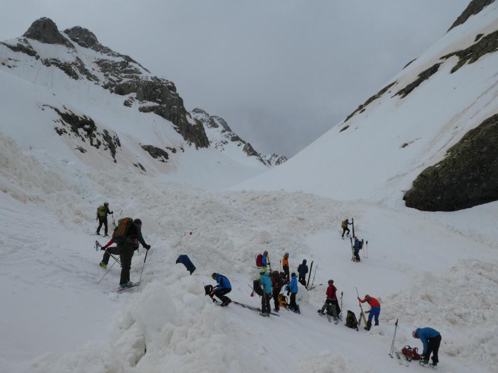 La nieve del Pirineo de Huesca se encuentra inestable tras los fuertes vientos