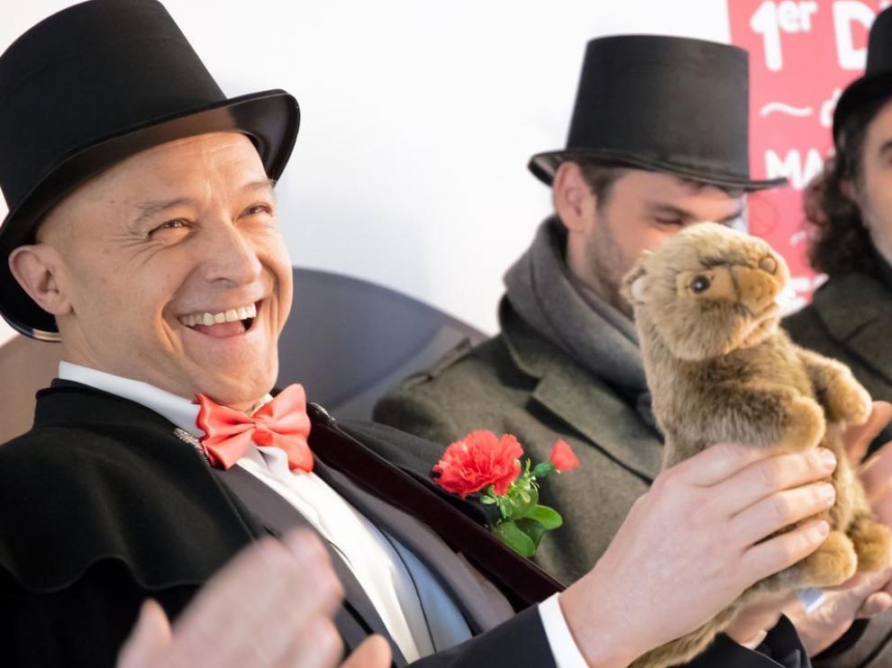 La marmota del Sobrarbe Manolo predice que la primavera se anticipará en España este 2019