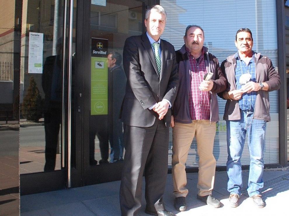Guillermo Andreu y Andrés Paules, de Valfonda, ganadores del Campeonato de Guiñote en Los Monegros