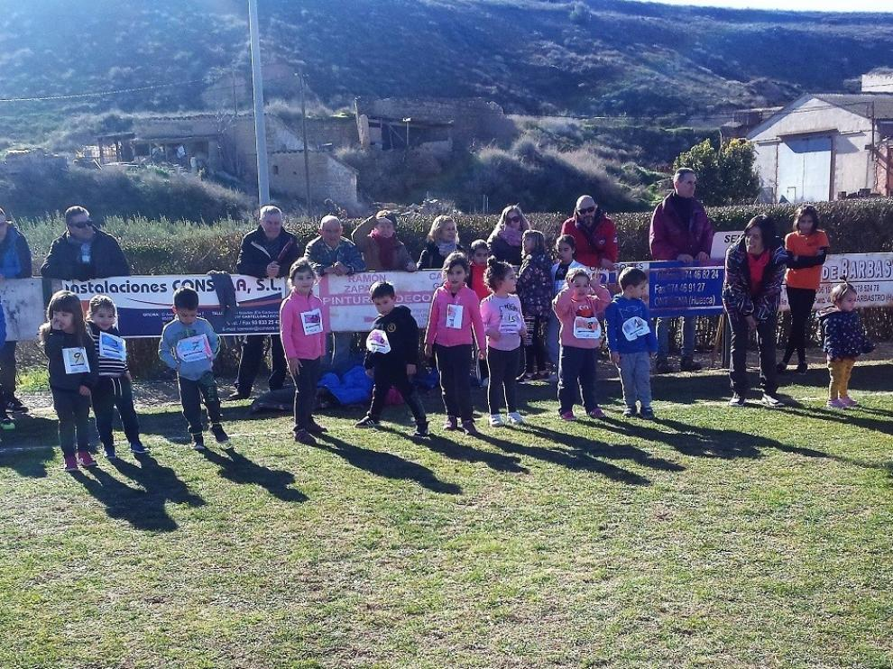 El Cross de Ontiñena reúne a 200 escolares de Bajo Cinca, Cinca Medio y Monegros