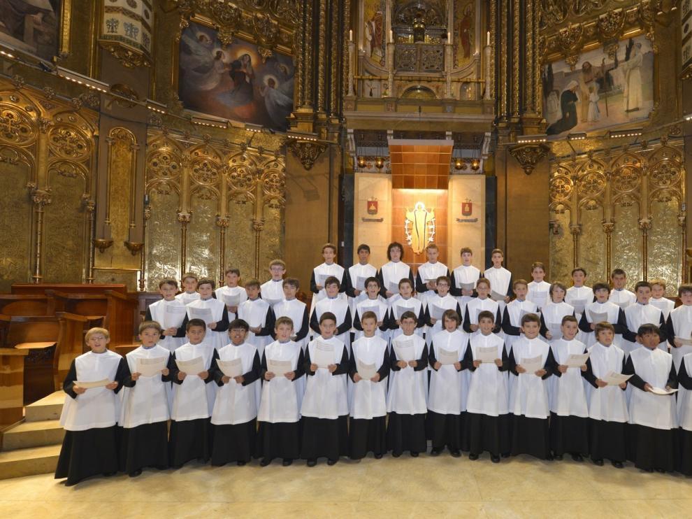 La Escolanía de Montserrat cantará en abril en Barbastro