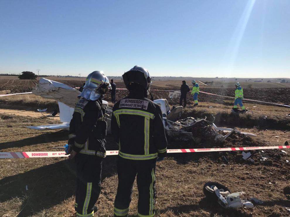 Dos muertos al caer una avioneta en Quijorna, Madrid