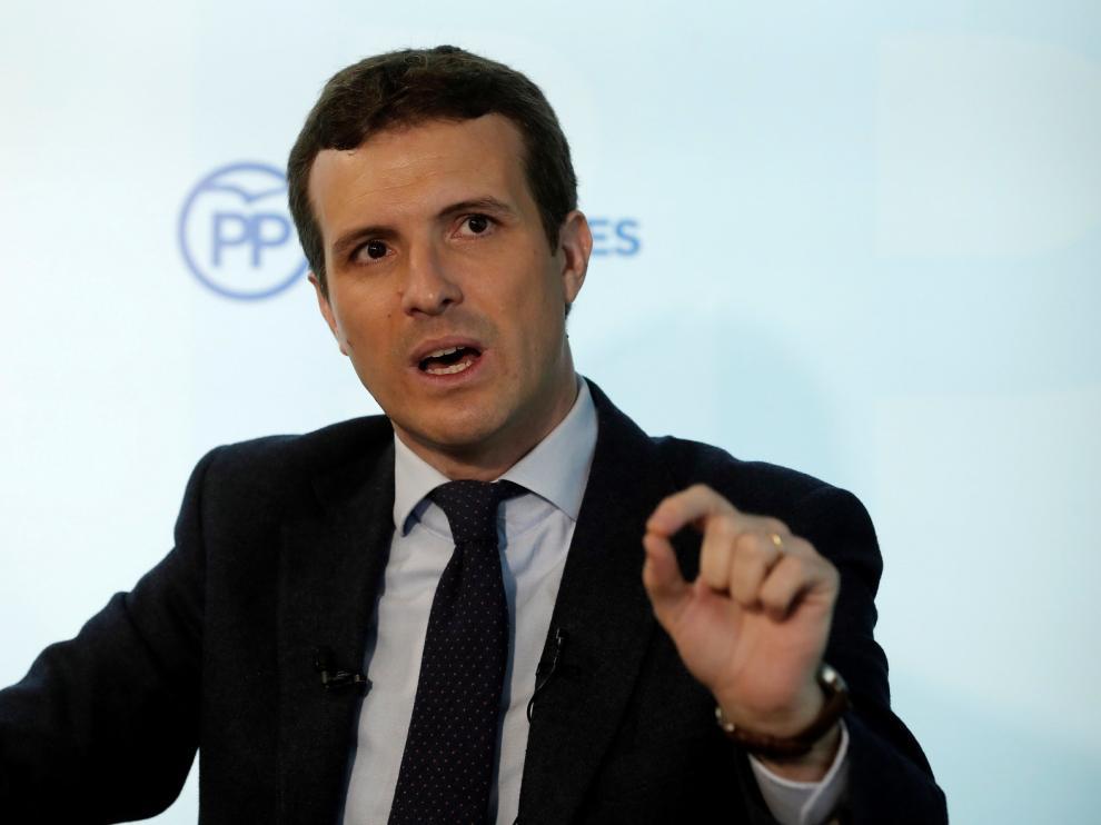 """Casado llama a la movilización: """"No descarto nada contra Sánchez por su alta traición a España"""""""
