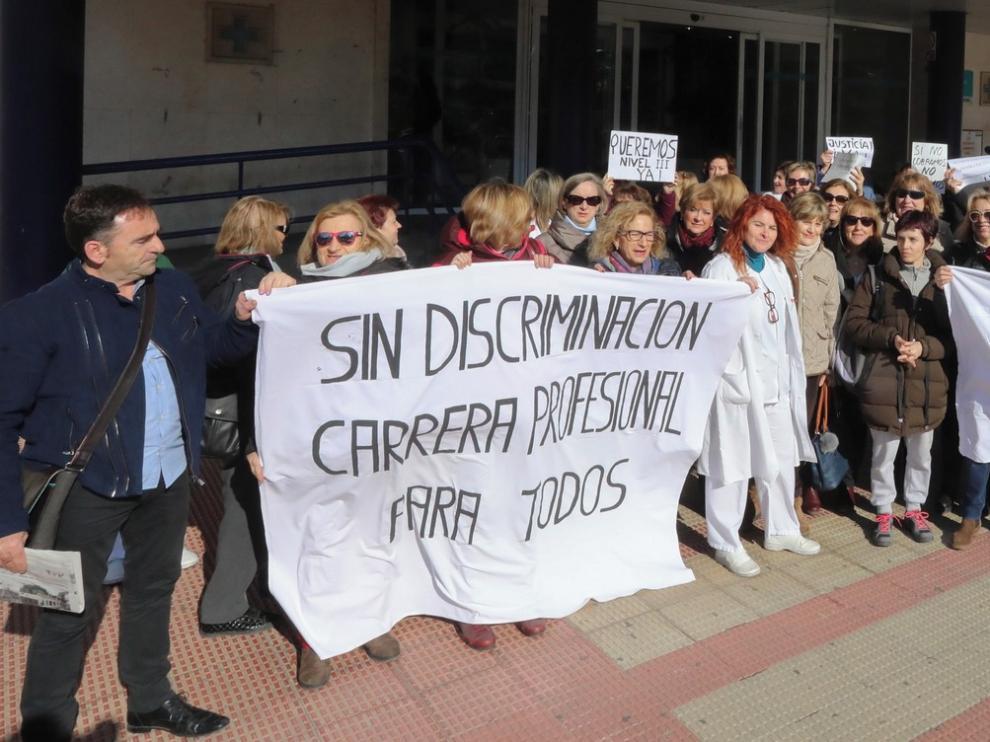 Trabajadores del Salud reclaman en Huesca el desbloqueo de la carrera profesional