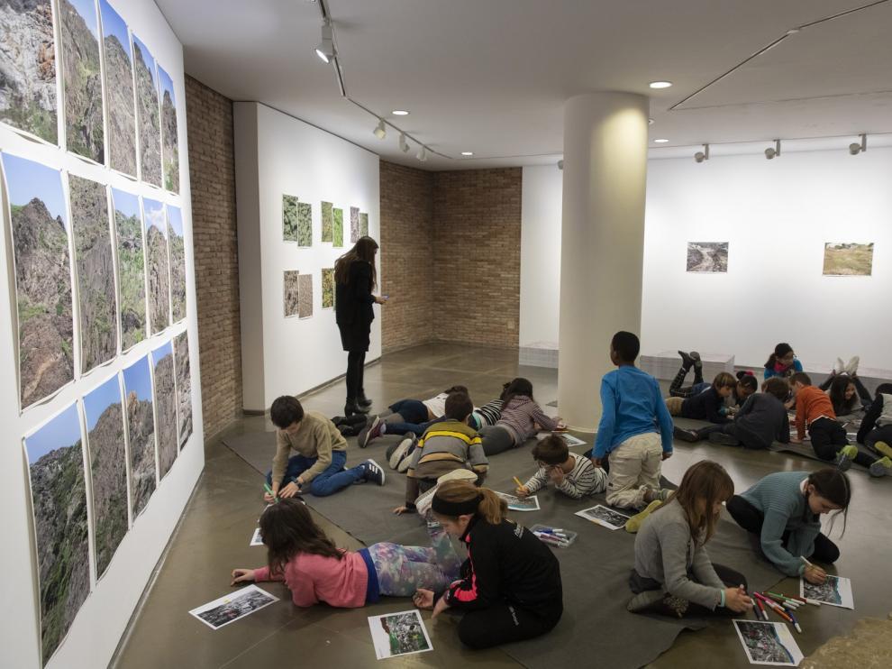 Los más jóvenes aportan su visión de los pueblos del Pirineo en los talleres de la DPH
