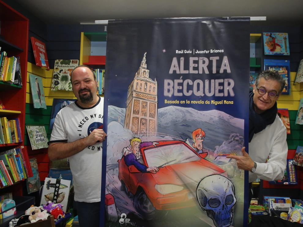 """Guíu y Briones publican el cómic """"Alerta Bécquer"""", basado en la novela de Miguel Mena"""