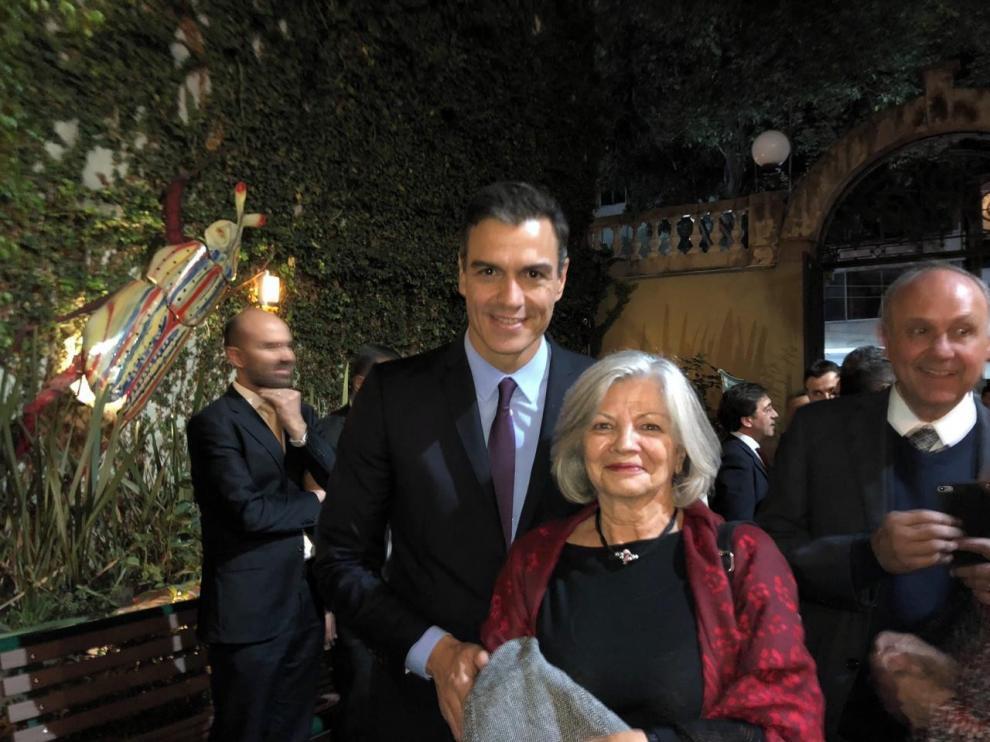 Encuentro de Pedro Sánchez con Rosa Seco