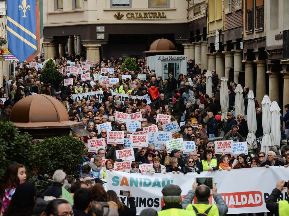 Teruel reúne a 10.000 personas por la sanidad en un día histórico