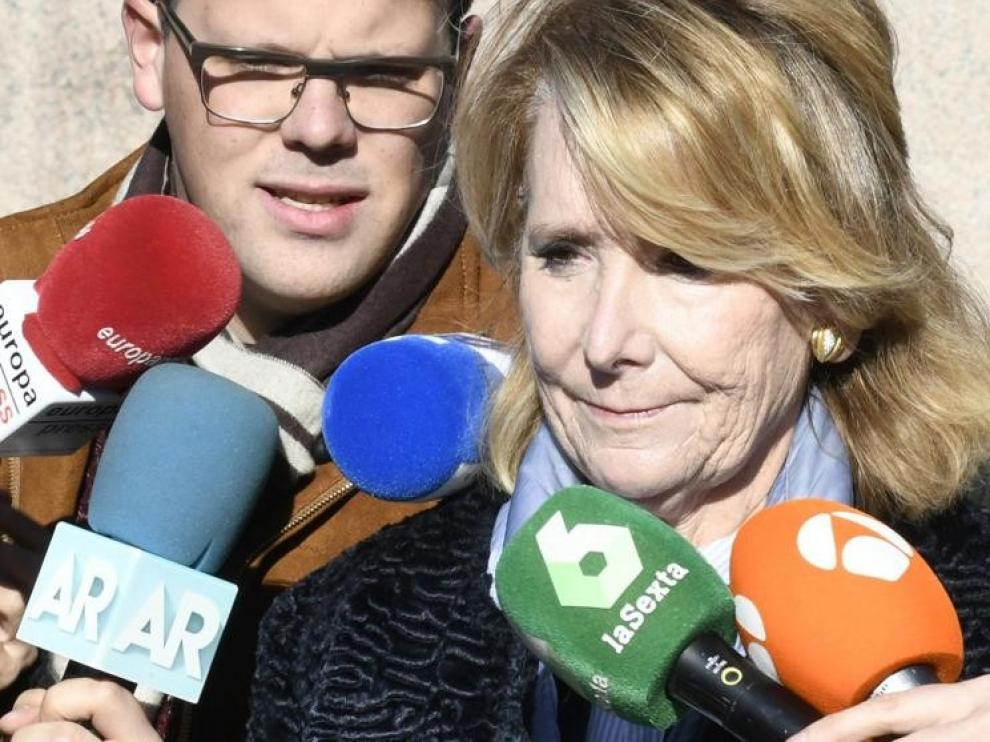 Esperanza Aguirre niega que ordenara espiar a cargos del PP rivales suyos