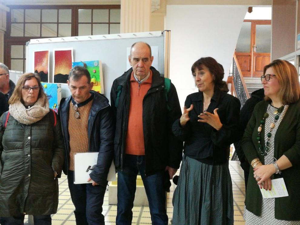 Instituciones y entidades sociales llevan al Campus de Huesca su trabajo terapéutico con el arte