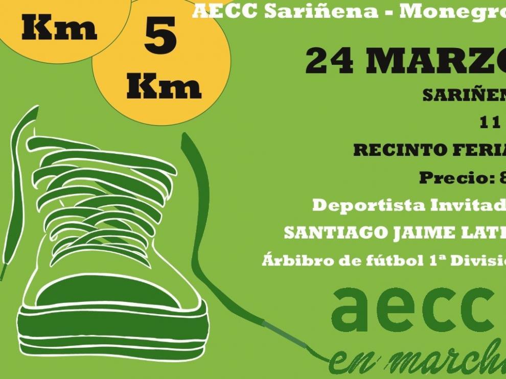 Cuenta atrás para la VI Carrera Solidaria en beneficio de la Asociación contra el Cáncer Sariñena-Monegros