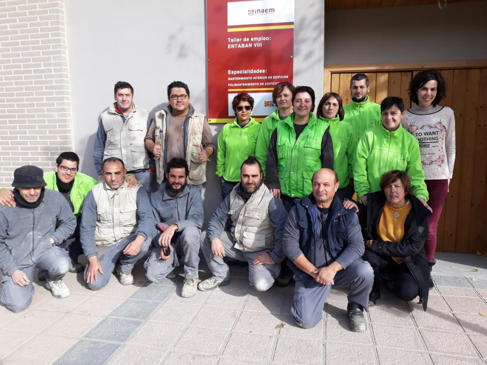 La Comarca del Somontano forma a 16 alumnos en albañilería y limpieza de edificios