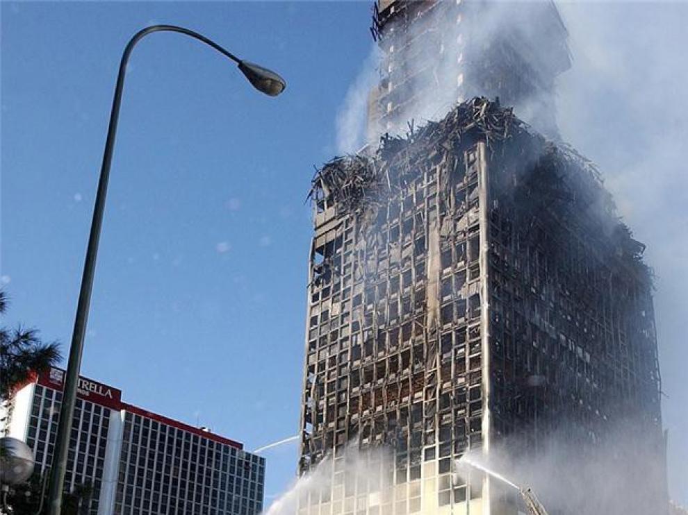 Villarejo niega tener relación con el incendio del edificio Windsor