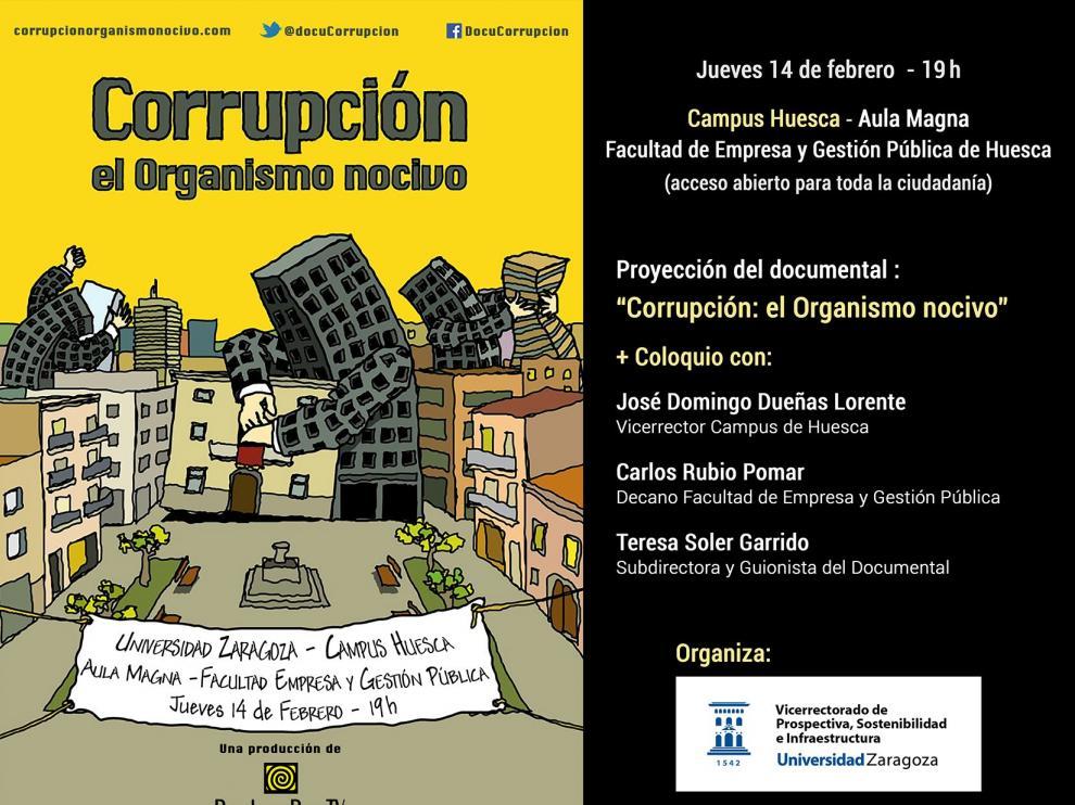 Los efectos nocivos de la corrupción, a debate en el campus de Huesca