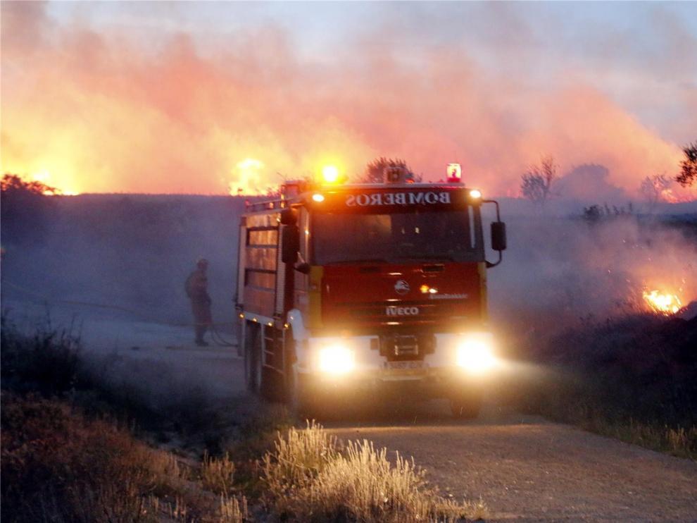 El Servicio de Bomberos de Huesca aumentó en 2018 sus salidas de la ciudad