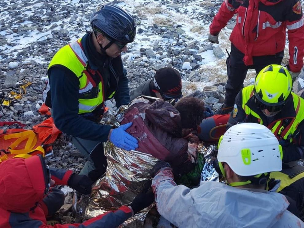 Herido un joven de Tarazona al caer por un barranco en el Parque del Moncayo