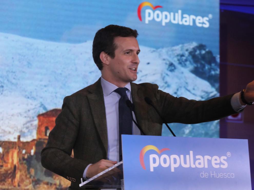 Casado habla del PP como único garante de la unidad, la libertad y la igualdad
