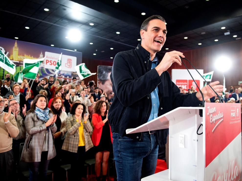 """Sánchez llama a la movilización de la izquierda frente a las """"tres derechas"""""""