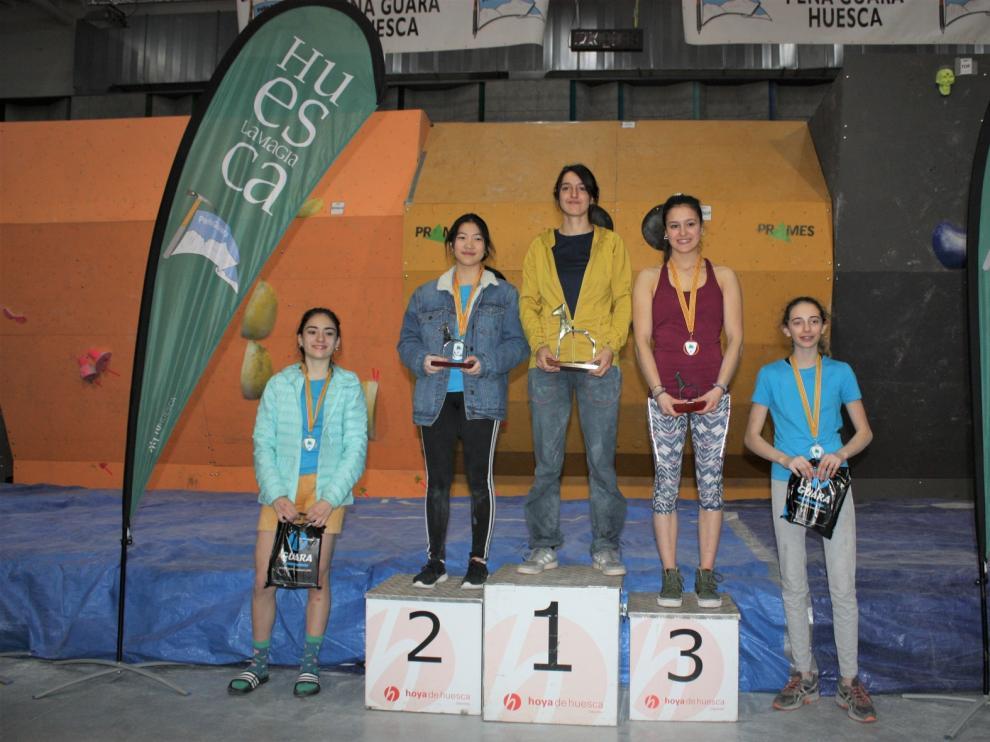 Gutiérrez y Pérez reeditan título en Huesca en la competición de Escalada en Bloque