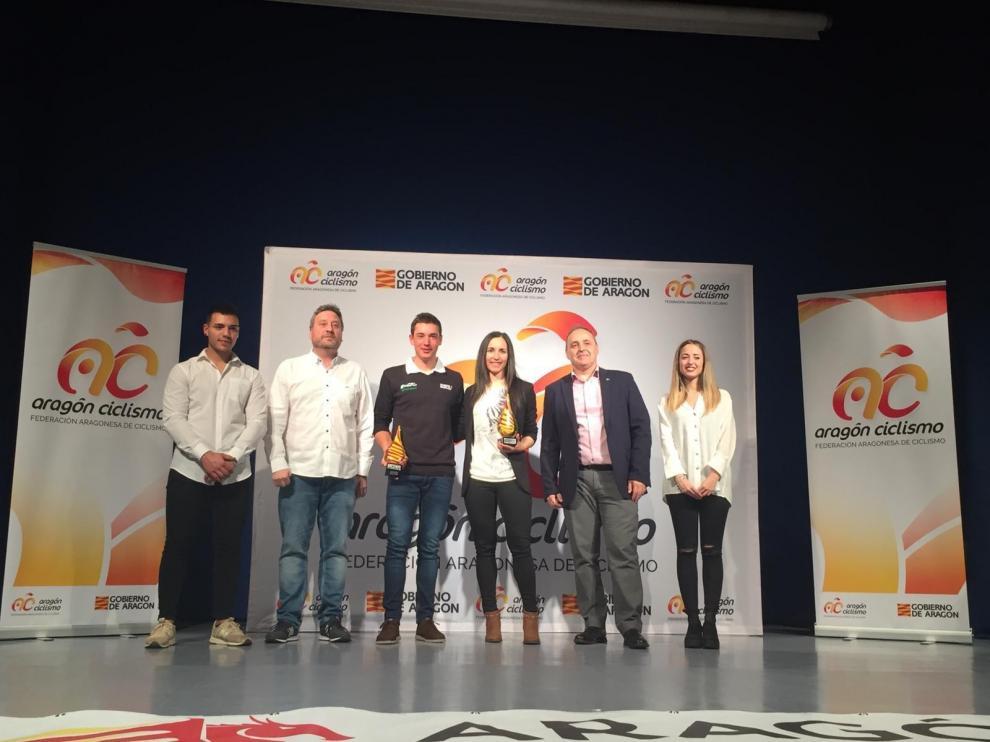 Fernando Barceló y Alba Barrau, los mejores ciclistas aragoneses del año