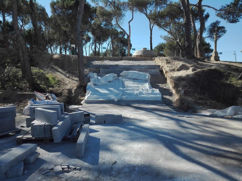 Últimas obras en los accesos al estadio de El Alcoraz