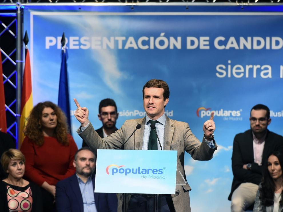 Casado dice que el 28A evitará que el PSOE arruine España