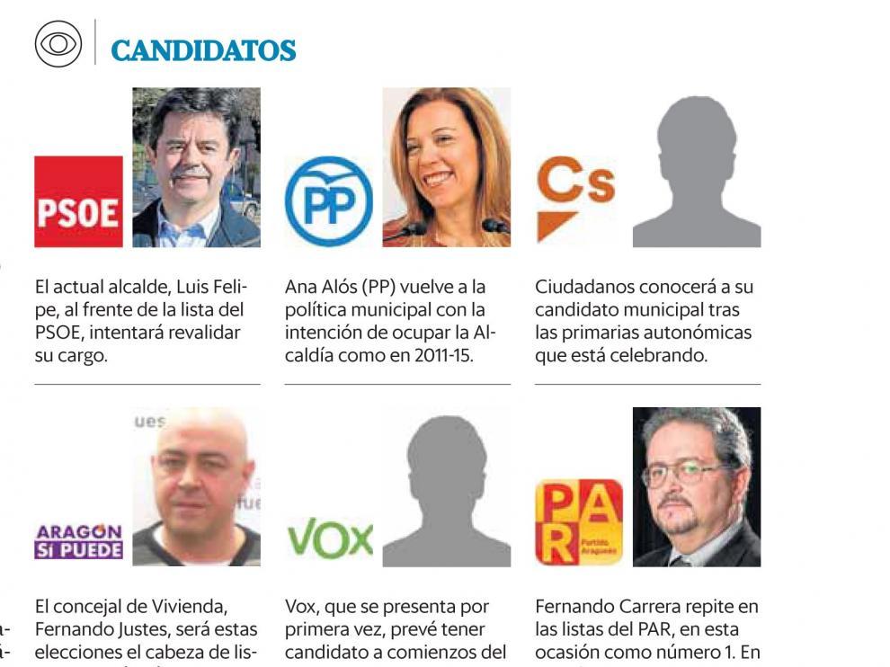 Empieza la carrera electoral sin saberse todos los candidatos a la alcaldía de Huesca