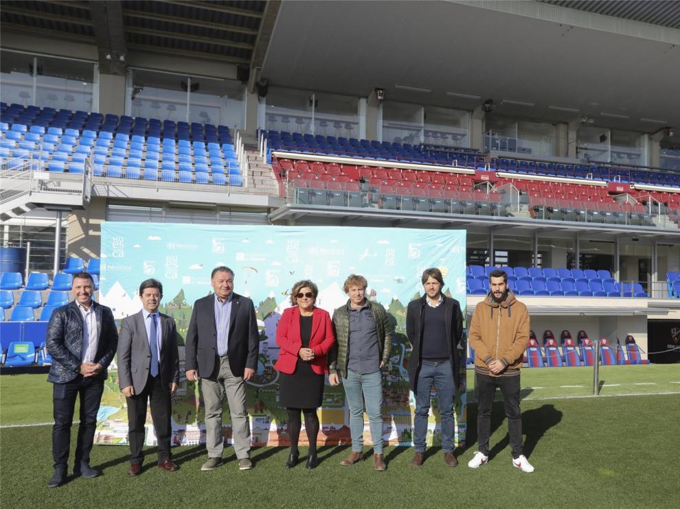 Los jugadores del Huesca protagonizan divertidos anuncios promocionales de la provincia