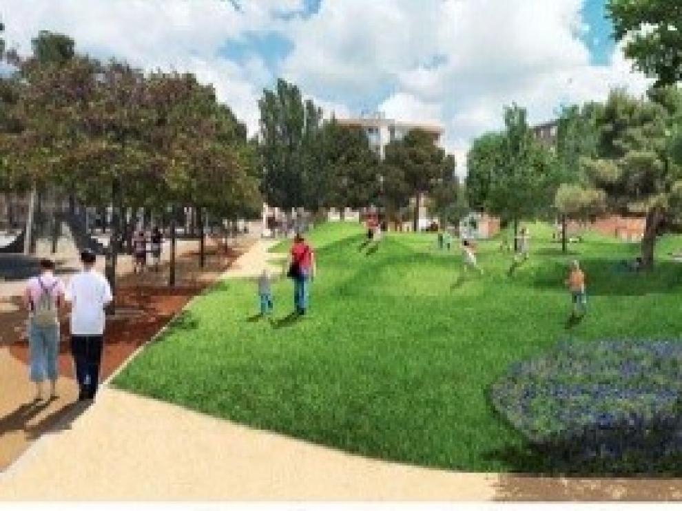 Arranca la primera fase de las obras de renovación del parque San Martín de Huesca