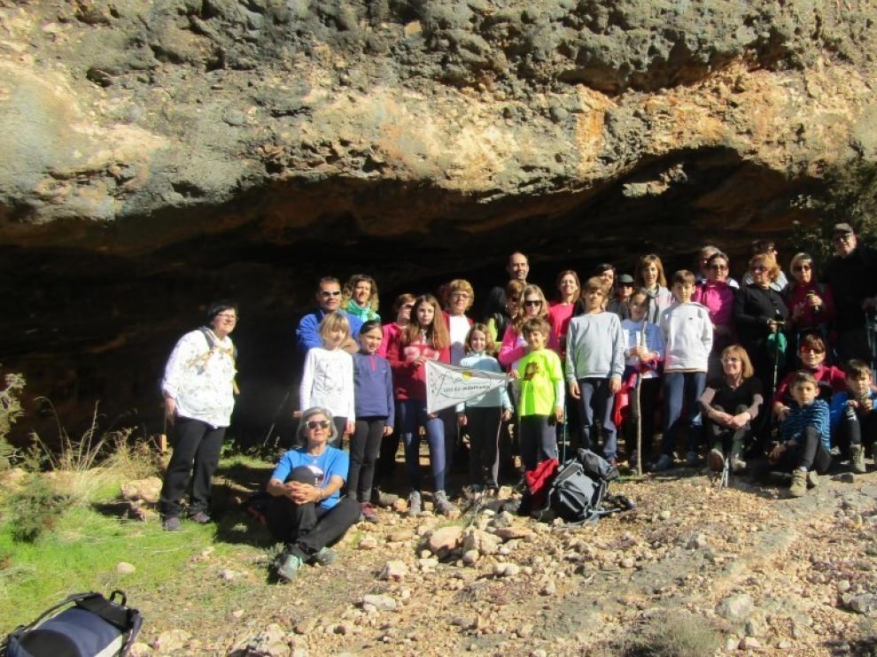 Senderistas, barranquistas y escaladores del Club Litera aprovecharon el buen tiempo
