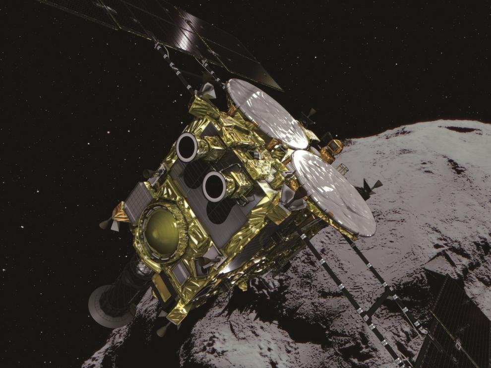 La misión nipona Hayabusa2 logra tocar la superficie de un remoto asteroide