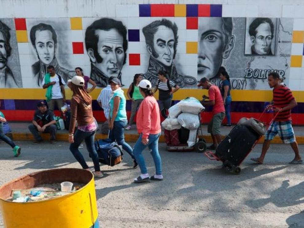 Mandatarios latinoamericanos arropan a Guaidó ante la inminente entrega de ayuda