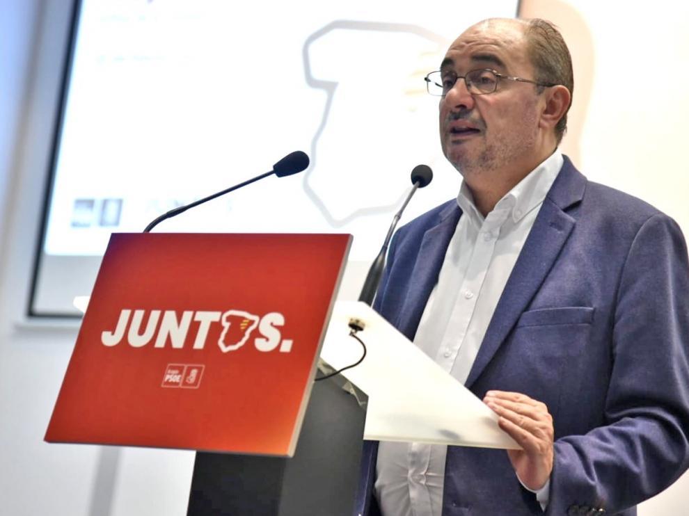 """Lambán considera que solo el PSOE puede """"exhibir gestión"""""""