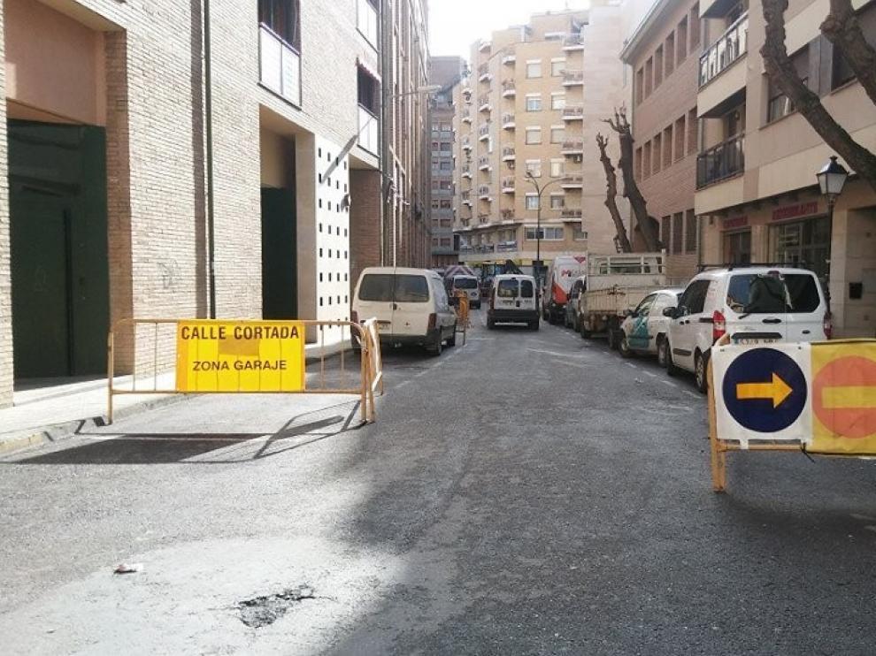 Este lunes se producirán restricciones al tráfico en la calle Loreto de Huesca