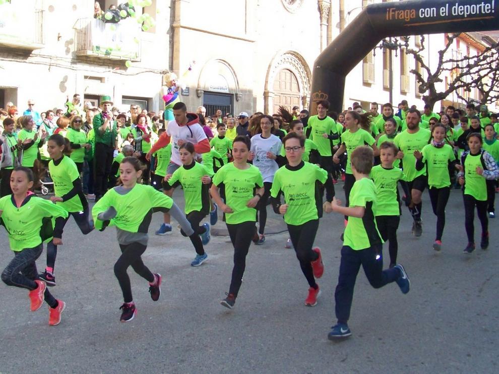 Más de 3.500 personas se visten de verde por la vida en Fraga