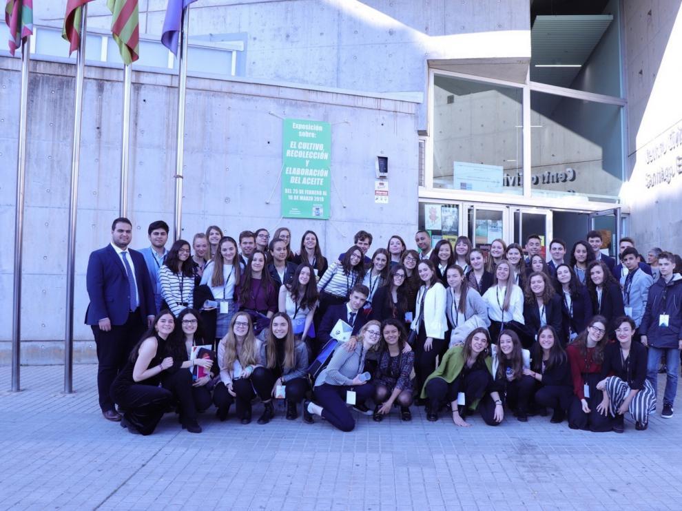 Estudiantes de Bachillerato de Huesca se convierten en europarlamentarios por un día