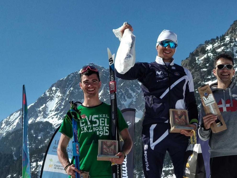 Martí Vigo y Lydia Iglesias ganan la Marcha Plan d'Están de esquí de fondo
