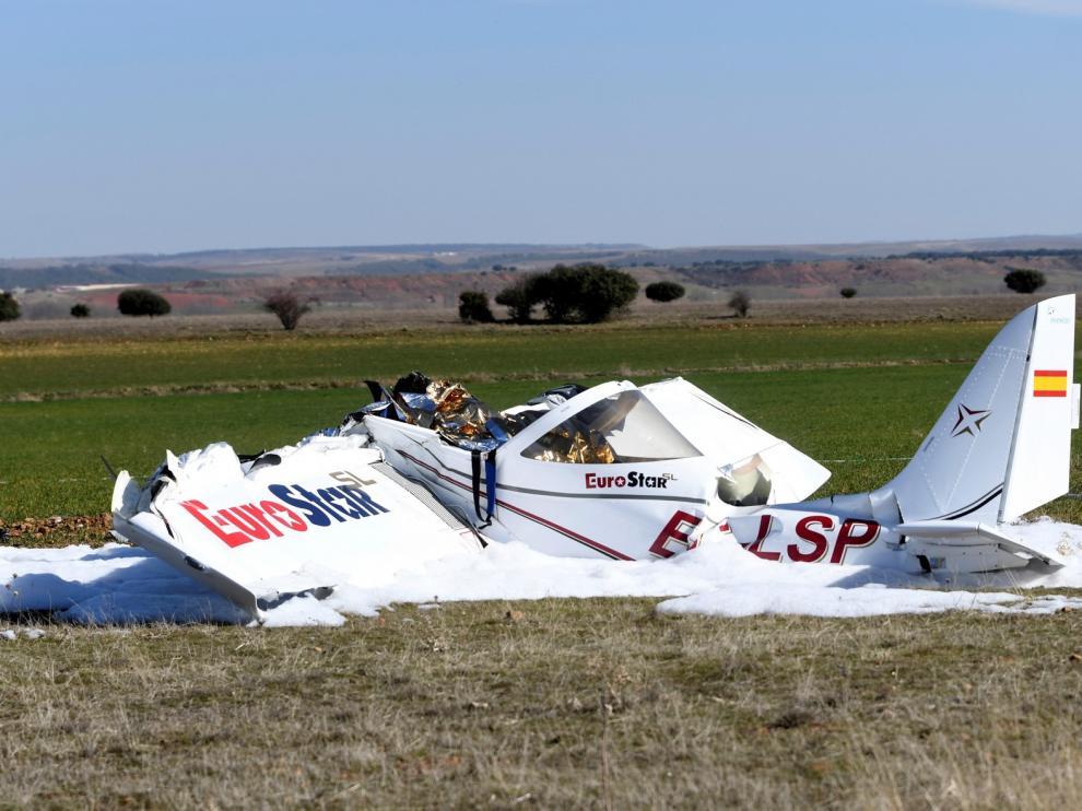 Dos hombres fallecen en Segovia al estrellarse su avioneta