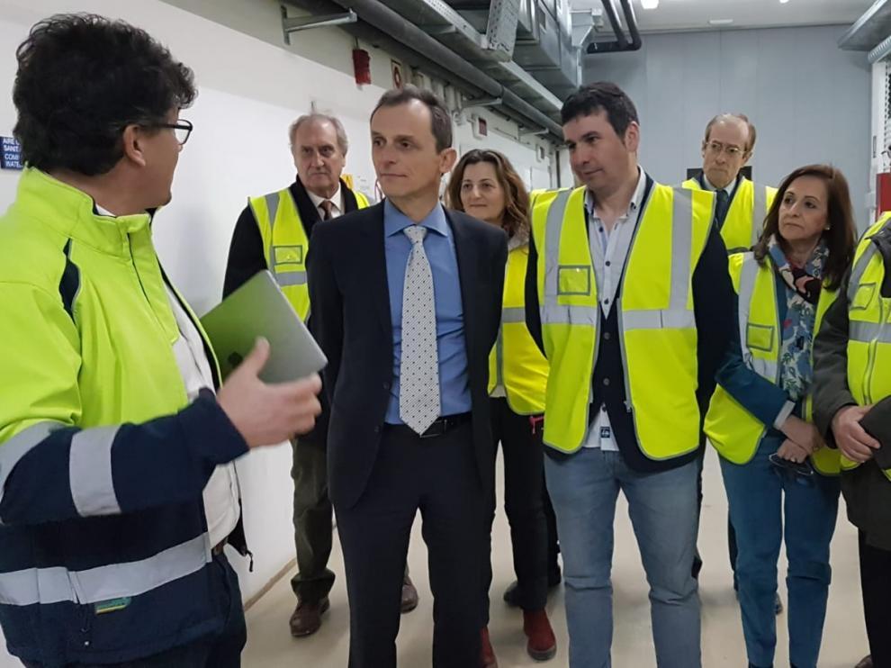 Pedro Duque, primer ministro que visita el Laboratorio de Canfranc